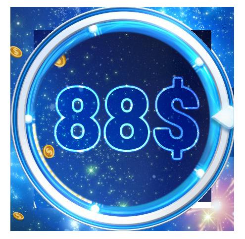 Бездепозитный бонус 88 долларов новым игрокам за регистрацию на 888poker.