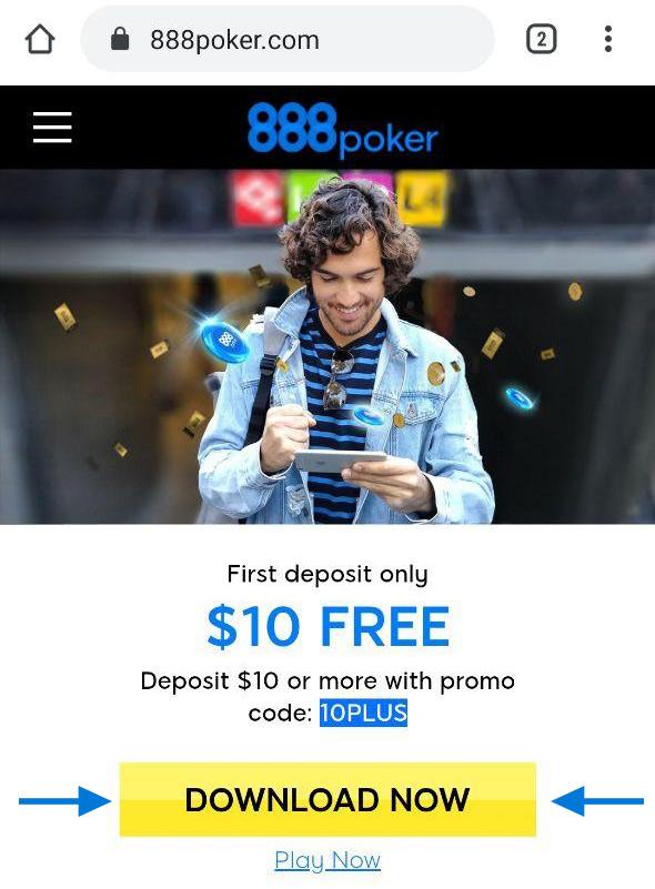 Скачиванием мобильного приложения 888poker с официального сайта рума.