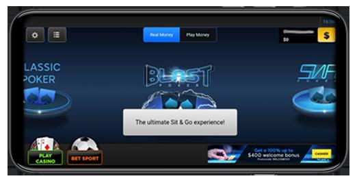 Лобби мобильного покерного приложения 888poker.