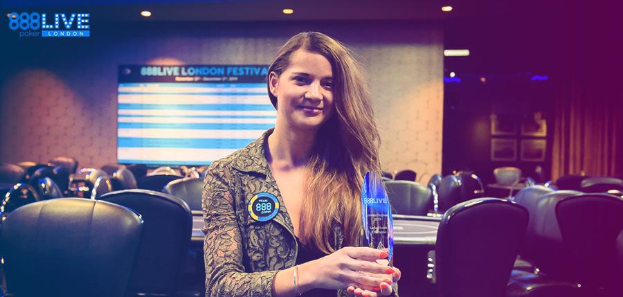 Софи Ловгрен - победительница женского ивента 888poker LIVE Festival 2019 в Лондоне.